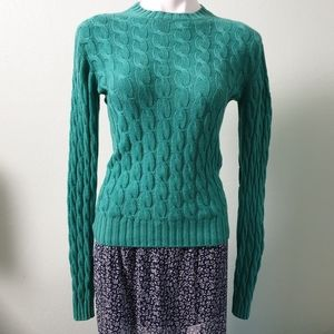 Burberry London Cashmere Cableknit Sweater Green